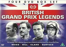 BRITISH GRAND PRIX F1 LEGENDS - MOSS HILL CLARK SURTEES 4 DVD BOX SET FORMULA 1