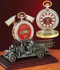 Franklin Mint 1922 AHRENS FOX PUMPER POCKET WATCH W/SCULPTURED STAND ~ RARE!
