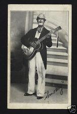 "EUGENE ""SMOKEY"" PLEACHER & RESONATOR GUITAR, BLACK AMERICANA MINSTREL MUSIC CARD"