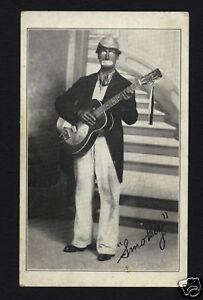 "EUGENE ""SMOKEY"" PLEACHER & RESONATOR GUITAR, MINSTREL MUSIC CARD"