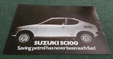 1979 1980 1981 SUZUKI SC100 GX WHIZZKID - UK LEAFLET BROCHURE