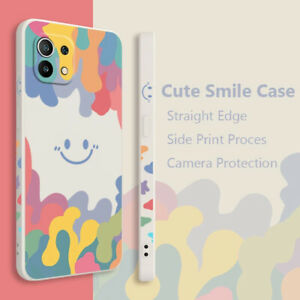 For iPhone 13 12 11 Pro MAX X XR 8 7 Cute Smile Pattern Silicone Soft Case Cover