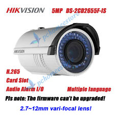 Hikvision DS-2CD2655F-IS 5MP IR POE 2.7~12mm Vari-focal Network Bullet Camera