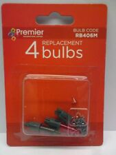 Pack of 4 Premier RB406M Multi Coloured Replacement Bulbs - 7v 0.98w (SB23)