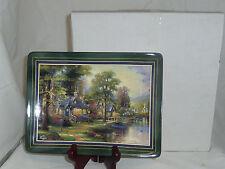Hometown Lake Bradford Exchange Thomas Kinkade cottages collector plate 62512