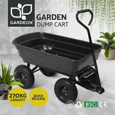 Gardeon 75L Dump Garden Cart 270kg Tipping Bed Trolley Wagon Wheelbarrow Pull BK
