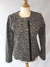 CAbi Women's Size Small Style 5099 Cliffside Zipper Moto Jacket Pink Green Black