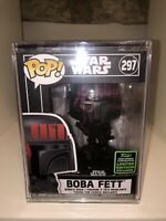 BOBA FETT FUTURA ECCC 2020 LIMITED EXCLUSIVE STAR WARS FUNKO POP #297 HARDSTACK