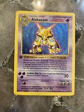 Pokemon 1ST EDITION ALAKAZAM 1/102 - BASE SET SHADOWLESS HOLO - (PL)