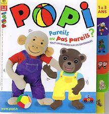 POPI  N° 249 * Spécial différences  * Jeux * Imagier * jeune enfant 18 mois