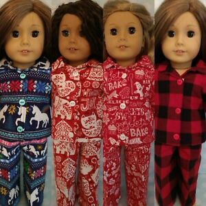 """18"""" Doll Christmas Pajamas fits 18 inch American Girl Doll Clothes c411abcd"""