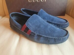 Gucci Mens Driving Shoes Blue Loafers UK 5.5  US 6.5    EU 39.5