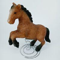 Vintage Western Lamp Table Night Light Horse Equestrian Rubber WORKS GREAT