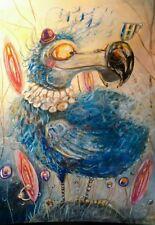 ORIGINAL A3 WATERCOLOr/ ' Dodo Tea in the garden'.......