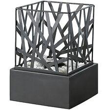 Tisch-Dekofeuer Indoor-Feuerkorb Edler Metall Dekorations-Kamin mit Steingarten