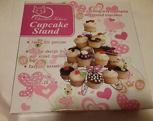 4 Tier Metal Scrolled 23 Mini Cupcake Stand Display Holder Wedding Birthday More