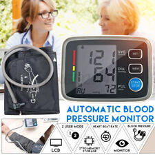 Digital LCD Upper Arm Blood Pressure Monitor Heart Rate Pulse Accuracy Cuff FDA