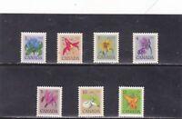CANADA FLORAL DEFINITIVES STAMPS SC# 705 - SC# 711 (1977 - 1982)    MNH (**)
