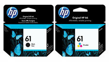 2Pack Genuine HP 61  Black & Tri-color Ink Cartridges  High Yield DeskJet 1000