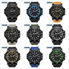 Reloj Deportivo smael Hombre Relojes ejército De Camuflaje De Hora Dual LED Digital Reloj