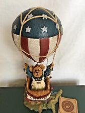 Boyds Bear #2002-71 Bearamerica * Hot Air Balloon * New In Box !