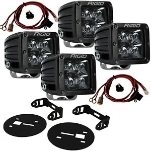 RIGID Fog Light Kit w/ Midnight Black PRO LED Lights for 15-19 Chevy Silverado