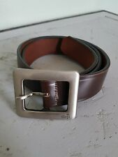 Vintage 90s Levi's Silver Tab Brown Leather Belt
