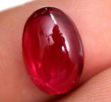 3.95 Ct Natural Mozambique Blood Red Ruby GGL Certified Cabochon Gem Stone