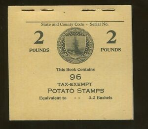 1935 United States Tax Exempt Potato Stamp #RI14 Mint Complete Booklet of 96