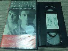 ULTIMO DE LA FILA EN CONCIERTO VHS VIDEOS CUTRES Y VIDEO CLIPS MANOLO GARCIA