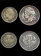 50 Cts 1925 + 1 Franc 1926 Cameroun. Territoire sous mandat de la France