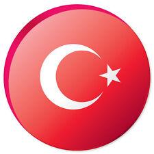 """TURKEY Flag car bumper sticker decal 4"""" x 4"""""""