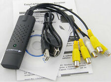 USB 2.0 4CH Video Audio Capture Adapter easycap CCTV DVR Card For PC Laptop Win7