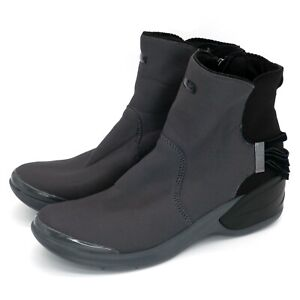 BZees Mojo Zip Ankle Boots Gray Black Free Foam Insoles | Women's 11M