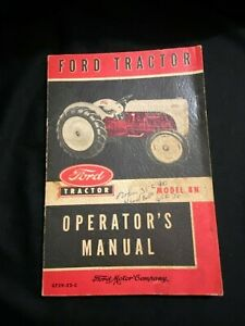 Vintage Ford Tractor Operator's Manual