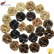 Synthetic Hair Bun Curly Messy Rose Piece Updo Scrunchie Hair Extension Ponytail