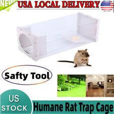 Transparent Mouse Humane Live Trap Hamster Cage Mice Rat Control Catch Baits