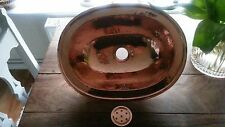 Moroccan handmade hammered copper Basin-Oval
