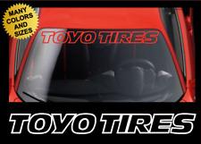 TOYO TIRES Windshield Banner Vinyl Decal Sticker Graphic fits Toyota & Honda