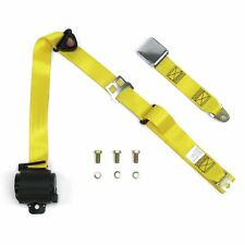 3Pt Yellow Retractable Seat Belt Airplane Buckle street aircraft safety harness