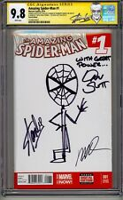 "AMAZING SPIDER-MAN #1 CGC SS 9.8 STAN LEE SKETCH ""WITH GREAT POWER"" BY DAN SLOTT"