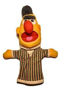 Sesame Street Bert Puppet Plush Stuffed Vintage by Applause Inc ventriloquist