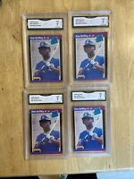 Lot Of 4 1989 Donruss Ken Griffey Jr Rated Rookie Cards Graded 7 NM