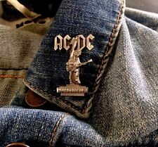 ACDC Angus Young & Bon Scott Stiff Upper Lip Pin Badge, Rock, Heavy Metal, Biker