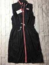 Hunter for Target Women's Extra Small Zip Front Nylon Sleeveless Dress Black XS