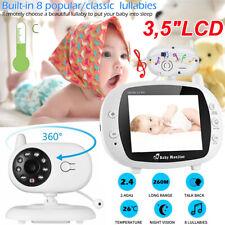 3.5 LCD Funk wireless Babyphone Baby Monitor mit Kamera Nachtsicht Musik Video