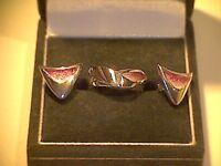 Sterling Silver Ring & Earrings by Sheila Fleet, ER111 Flight Passion Pink, F1/2