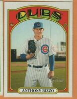 2021 Topps Heritage - Team Color Swap - #175 Anthony Rizzo - Chicago Cubs