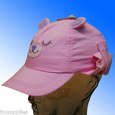 Baby Girls Sun Protection legionnaires Hat Cap neck flap 3 Sizes * Fast Despatch