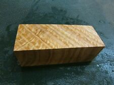 SPALTED TIGER OAK DELUXE KNIFE BLOCK/SCALES/ CALLS/ PEN BLANKS--O--B
